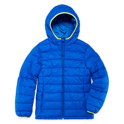 Xersion - Boys Water Resistant Midweight Puffer Jacket-Big Kid