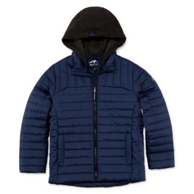 Pacific Trail Boys Hooded Heavyweight Quilted Jacket-Big Kid