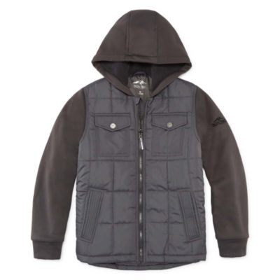 Pacific Trail Boys Hooded Midweight Quilted Jacket-Big Kid