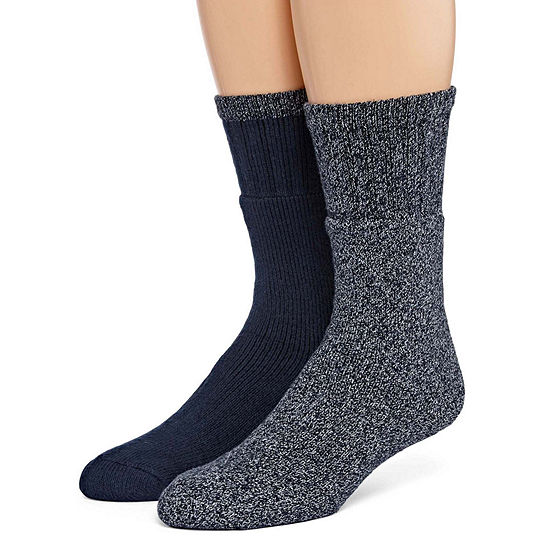 St. John's Bay 2 Pair Boot Socks-Mens