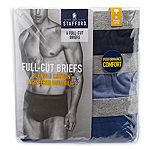 Stafford® 6-pk. Blended Cotton Full-Cut Briefs–Big & Tall