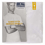 Stafford® 4 Pair Blended Cotton Crewneck T-Shirts