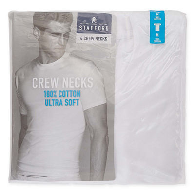 Stafford® 4-pk. Cotton Crewneck T-Shirts–Big & Tall