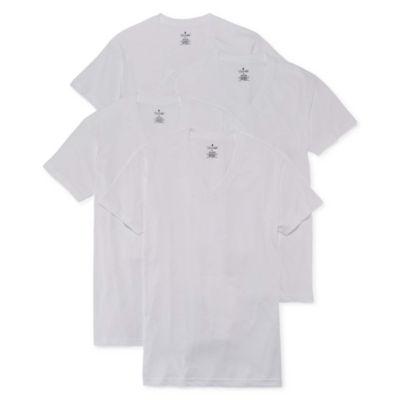 Stafford® Essentials 4-pk. T-Shirts–Big & Tall