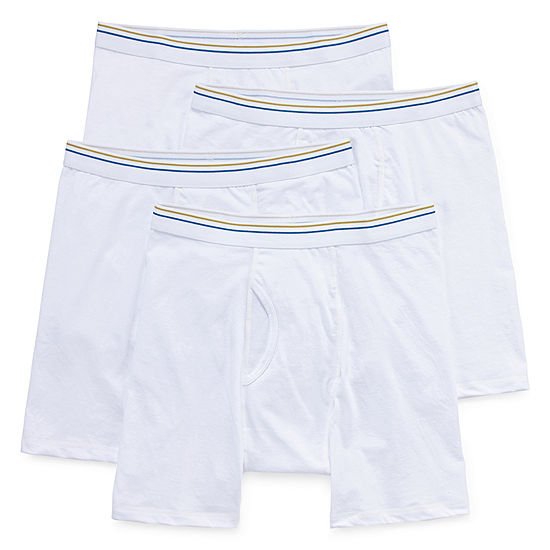 Stafford® 4 Pair Blended Cotton Boxer Briefs
