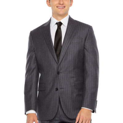 Stafford Executive Super 100 Mens Striped Classic Fit Suit Jacket