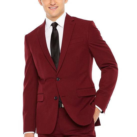 a5cca2cf839 JF J.Ferrar Bright Burgundy Slim Fit Stretch Suit Jacket - JCPenney