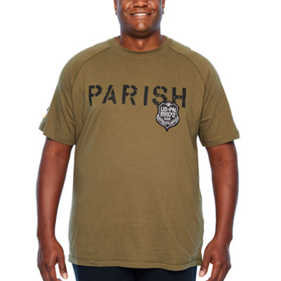 Parish Short Sleeve Crew Neck T-Shirt-Big and Tall