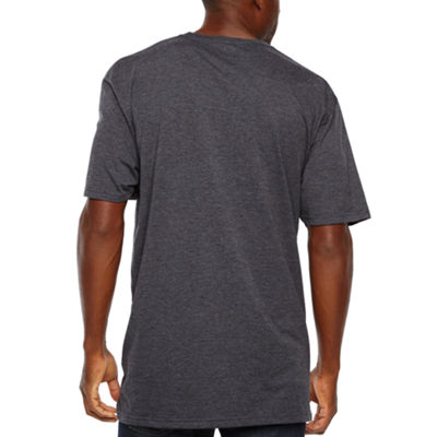 Mens Crew Neck Short Sleeve T-Shirt-Big and Tall