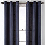 Home Expressions Elliot Light-Filtering Grommet-Top Set of 2 Curtain Panel