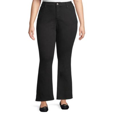 St. John's Bay® Secretly Slender Bootcut Jeans-Plus