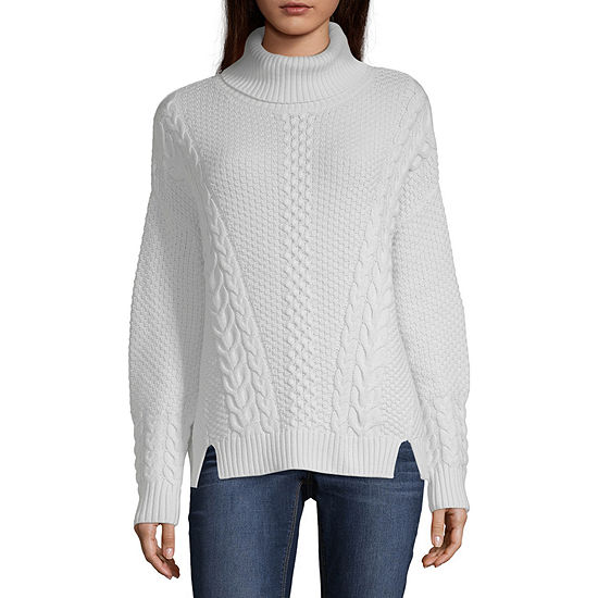 36fd231ad ana Long Sleeve Turtleneck Pullover Sweater JCPenney