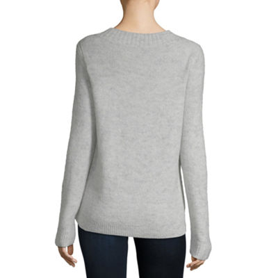 Liz Claiborne Long Sleeve Mock Neck Pullover Sweater