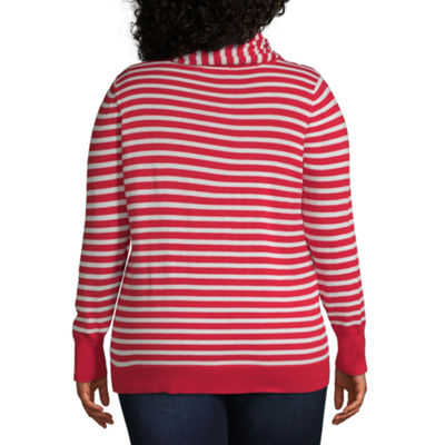 Liz Claiborne Stripe Sweater - Plus