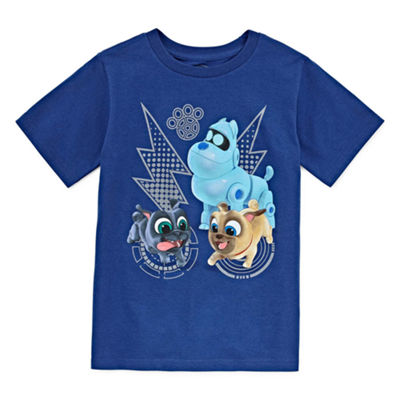 Disney Boys Round Neck Short Sleeve Puppy Dog Pals Graphic T-Shirt-Toddler