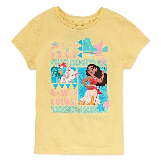 Disney Girls Short Sleeve Moana Graphic T-Shirt - Kids