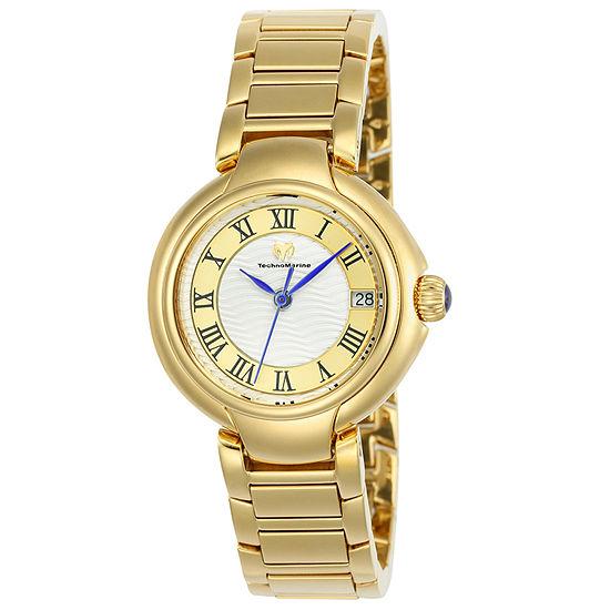 Invicta Sea Lady Womens Gold Tone Stainless Steel Bracelet Watch-Tm-716007