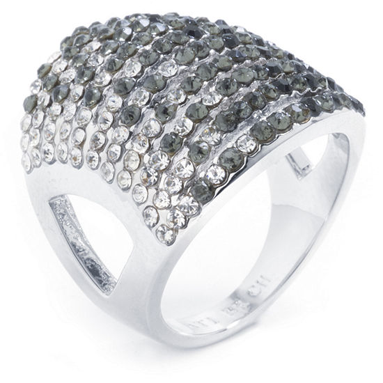 Sparkle Allure Womens Multi Color Pure Silver Over Brass Cocktail Ring