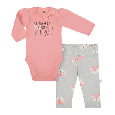 Just Born Organic Animal 2 Piece Pant Set - Baby Girls
