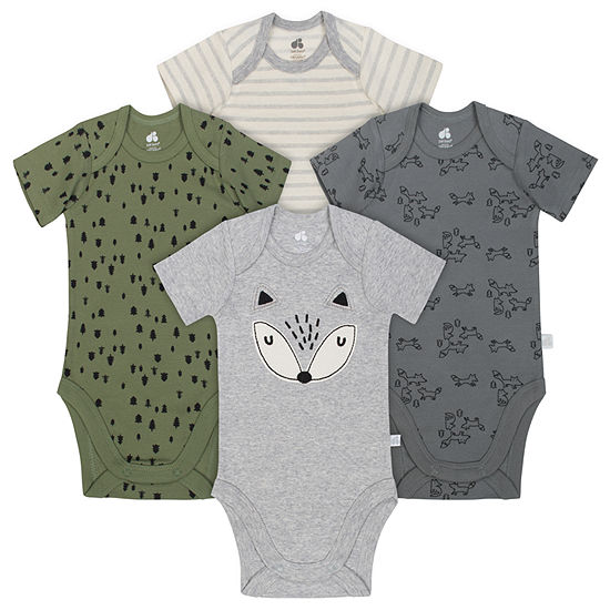 Just Born Organic 4-pc. Bodysuit Set-Baby Boys