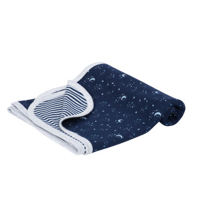 Just Born Organic 2 Ply Swaddle Blanket Star Blanket - Boys