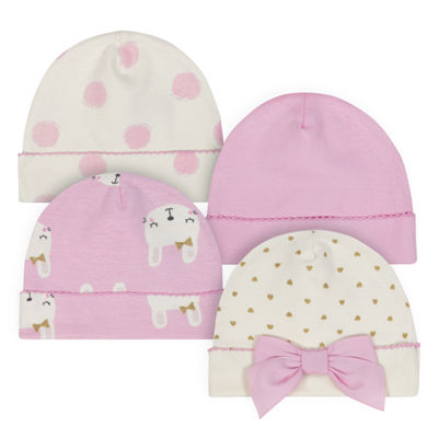 Just Born Organic Girls 4-pc. Baby Hat