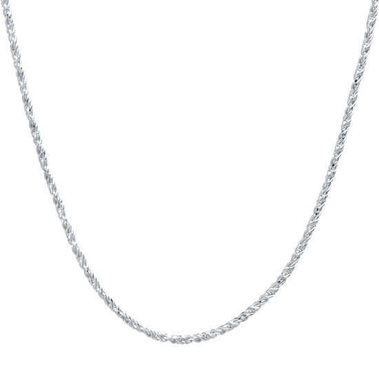 Silver Treasures Sterling Silver 16-24 Inch Chain Necklace
