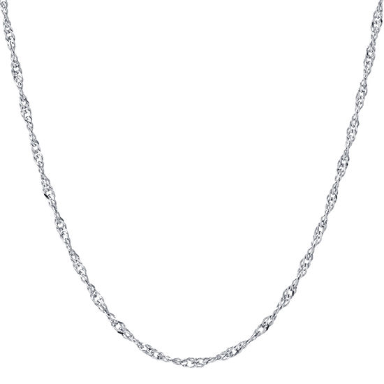 "Made In Italy Silver Treasures Sterling Silver 16-30"" Twist Chain Necklace"