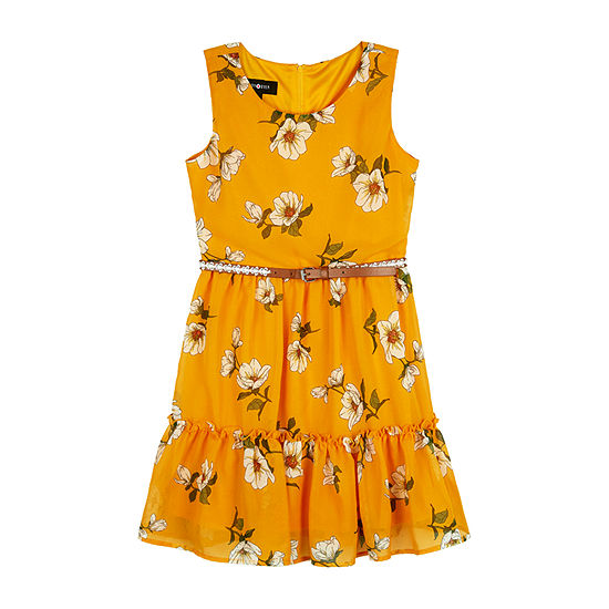 by&by Big Girls Sleeveless Fit & Flare Dress