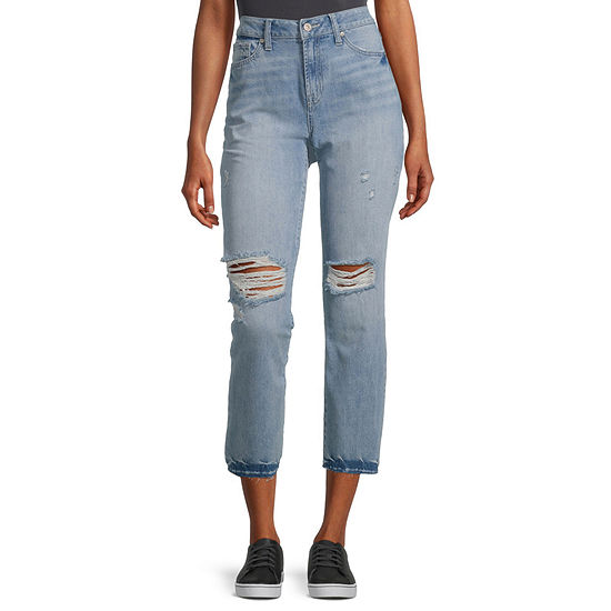 Rewash - Juniors Womens High Rise Straight Regular Fit Jean