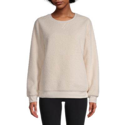St. John's Bay Womens Round Neck Long Sleeve Sweatshirt