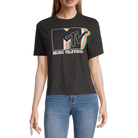 Juniors Mtv Womens Crew Neck Short Sleeve Graphic T-Shirt