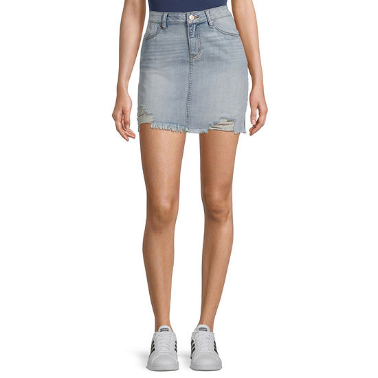 Rewash Womens Denim Skirt-Juniors
