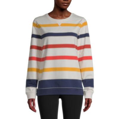 St. John's Bay Womens Round Neck Long Sleeve Sweatshirt