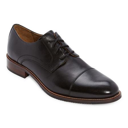Downton Abbey Men's Fashion Guide Stafford Mens Seymour Leather Oxford Shoes 10 12 Medium Black $55.99 AT vintagedancer.com