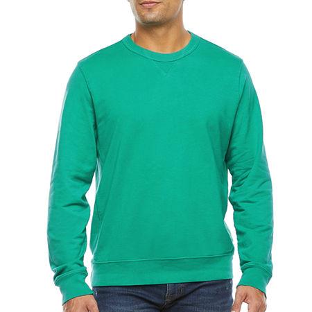 Men's Vintage Gym Clothes   Sweatshirts, Shorts, Tops, Shoes Styles St. Johns Bay Mens Crew Neck Long Sleeve Sweatshirt Xx-large  Green $19.99 AT vintagedancer.com