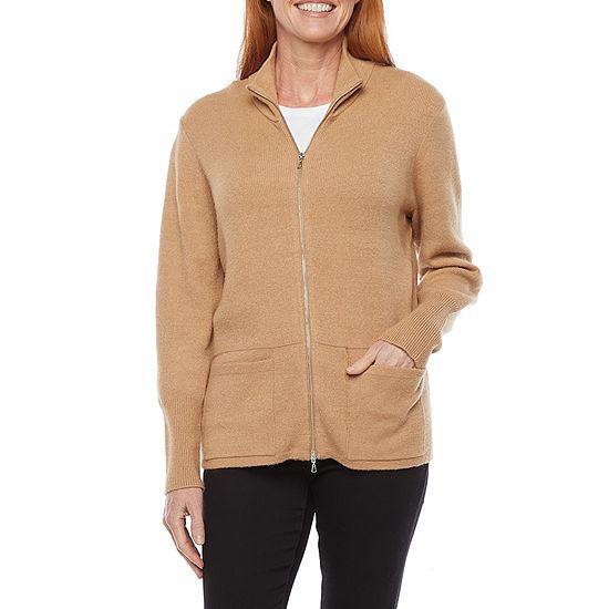Liz Claiborne Womens Long Sleeve Cardigan