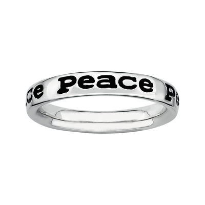 "Personally Stackable Sterling Silver ""Peace"" Stackable Ring"