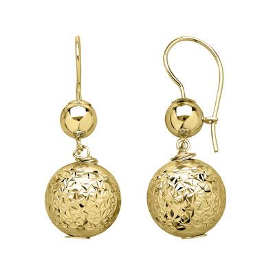 Infinite Gold™ 14K Yellow Gold Bead Drop Earrings