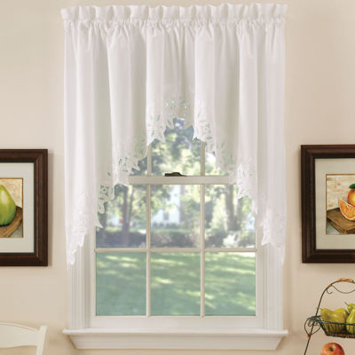 Hanna Rod-Pocket Swag Valance Pair