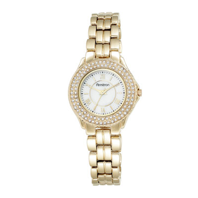 Armitron® Womens Crystal-Accent Gold-Tone Bracelet Watch 75/5332MPGP
