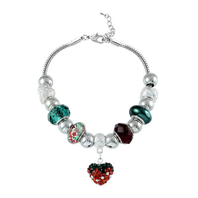 Dazzling Designs™ Multicolor Artisan Glass Bead Strawberry Bracelet