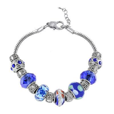 Dazzling Designs™ Blue Artisan Glass Bead Bracelet
