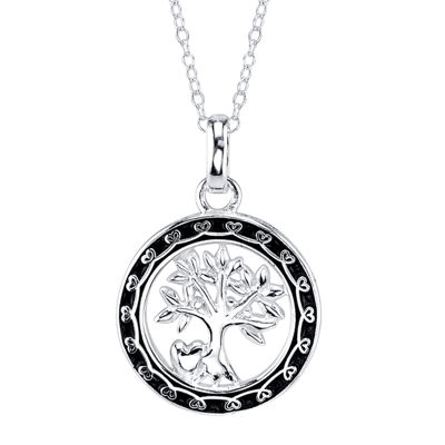 Footnotes® Family Tree Pendant Necklace