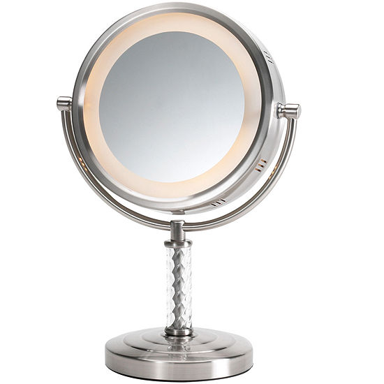 Jerdon Style Lighted Tabletop Mirror