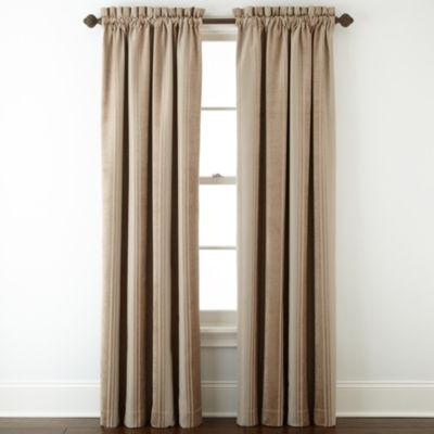 Royal Velvet® Kendall Stripe Blackout Rod-Pocket Curtain Panel