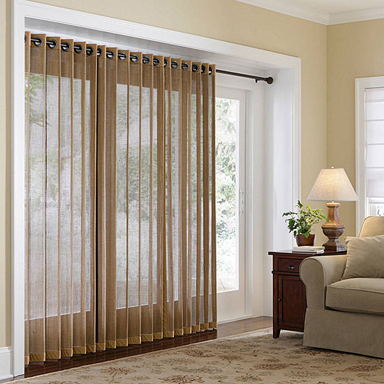 JCPenney Home Naples Grommet Top Bamboo Panel