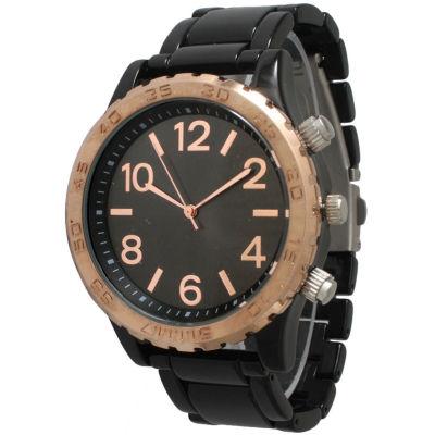 Olivia Pratt Womens Black Bracelet Watch-14200black Rose