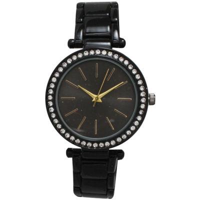 Olivia Pratt Womens Black Bracelet Watch-14202black Gold