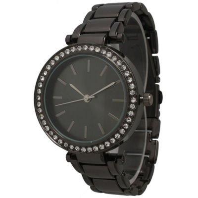 Olivia Pratt Womens Gray Bracelet Watch-14202gunmetal